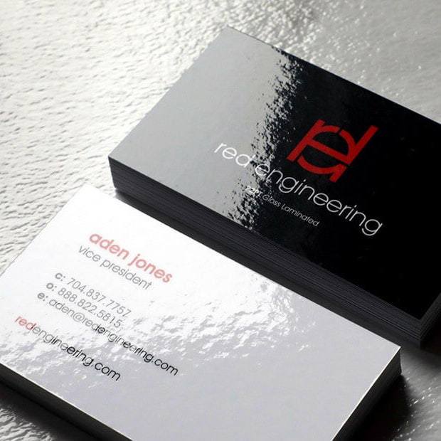Laminated Business Cards 22pt Thick